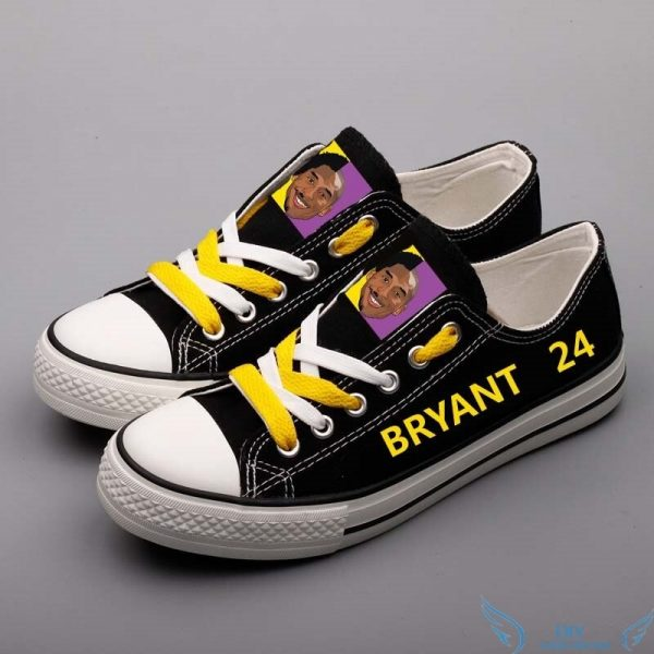 Kobe Bryant Canvas Customized Adults Black Color Walking Shoes