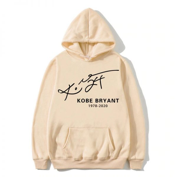 Kobe Bryant pullover Signature 1978-2020 Hoodie in peach color