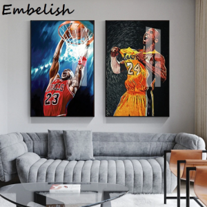 1 Pieces Basketball Player Kobe Bryant 24 Figure Wall Art Pictures For Living Room