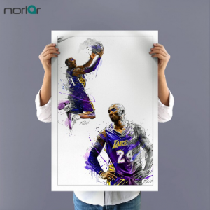 A Canvas Painting the legend Kobe Bryant Dunks Wall Art Basketball Star Prints