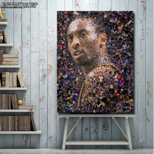 Abstract Canvas Paintings Portrait of Kobe Bryant Wall Art Canvas Posters