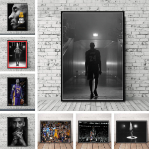 Art Decor Kobe Bryant The Black Mamba Time Cover Baskerball Player MVP Super Star Art Wall