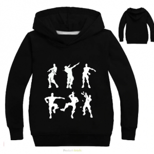 black color DLF 2-16Y Dabbing Kids Boys Hoodies and Sweatshirts Baby Girls Hoodie