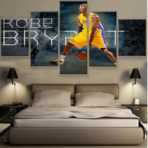 HD Print 5 pieces Kobe Bryant sport poster Painting Canvas wall