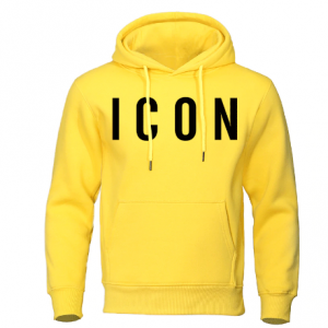 yellow colorIcon Print Mens Hoodies 2019 Autumn Winter Sweatshirt Hot Sale Fashion Hoodie