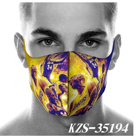 Kobe Bean Bryant Mouth Mask Breathable Face Mask Reusable
