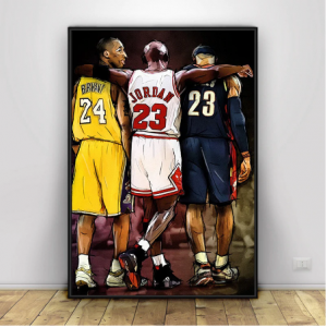Kobe Bryant LeBron James Basketball Star Canvas Painting Scandinavian Wall Art