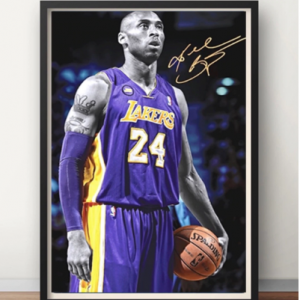 Kobe Bryant Portrait Basketball Forever Memory Decorative Poster Wall