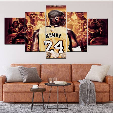 Piece Canvas Wall Art Poster Kobe Bean Bryant Basketball Canvas Prints Painting Modern Wall Art