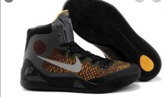 Nike Kobe Bryant Middle Black Yellow Shoes