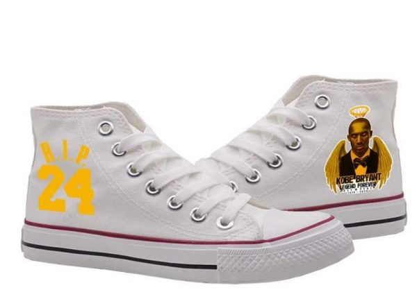 Rip Kobe Bryant High White Color Canvas Shoes