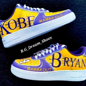 Customized Kobe Bryant Nike Yellow color Air force Shoes
