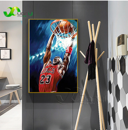 Super Star Kobe Bryant Canvas Art Poster And Prints Abstract Wall Painting