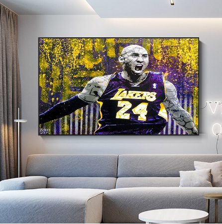 Nordic Style Art Basketball Kobe Bryant Canvas Painting Posters
