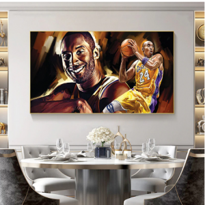 Wall Art Painting Basketball Super Star Kobe Bryant Figure Poster Printed