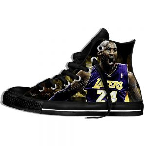 Kobe Bryant High Quality Printed Black Sneakers