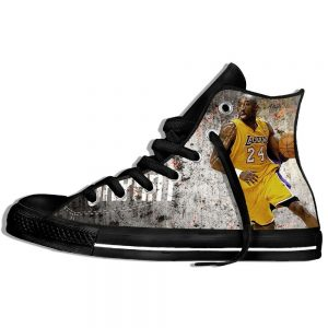 New Popular Kobe Bryant 3D Print Sneakers Style Black Color Casual Shoes