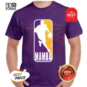 kobe bryant mamba purple gold t-shirt men's women's