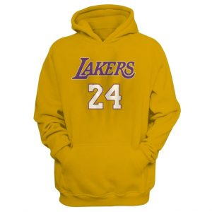 Kobe Bryant 24 Lakers Hoodie in yellow
