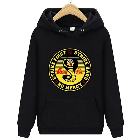 Kobe Cobra Kai Hoodie in Black color