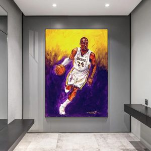 Kobe Bryant Lakers 24 Art poster